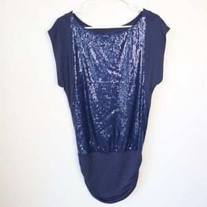 NEW Forever 21 Sequined Cap Sleeve Knit Tunic Top
